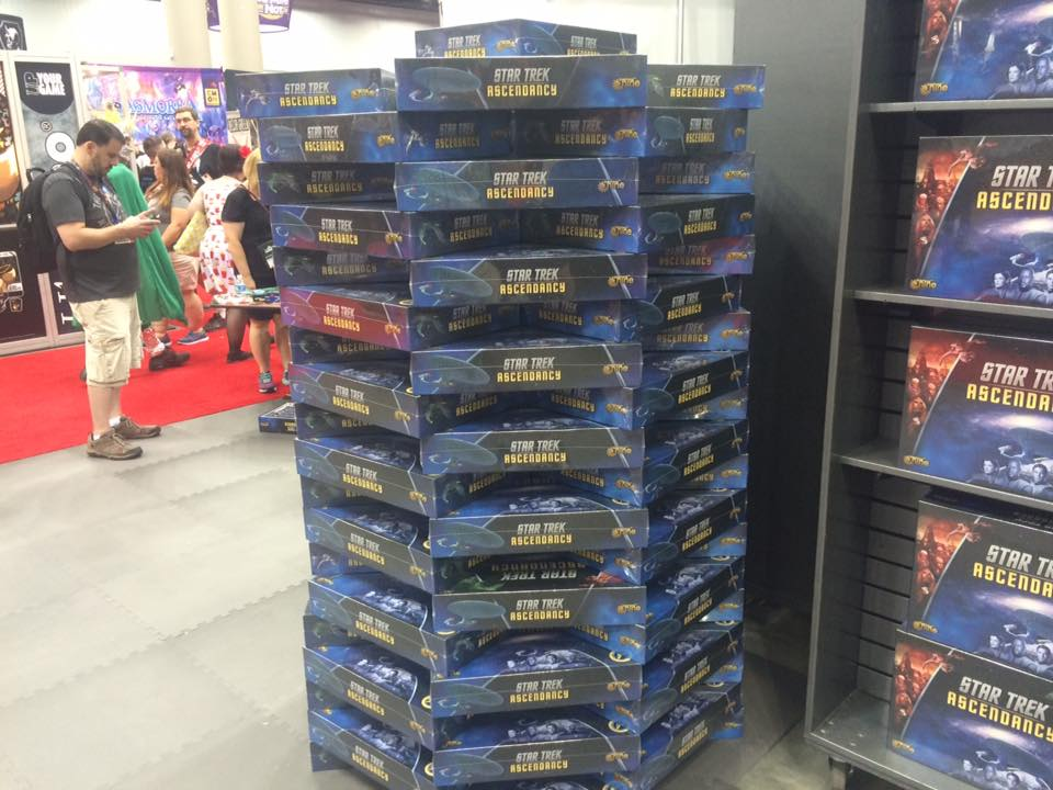 This is only one of several stacks of Ascendancy at the GF9 booth.